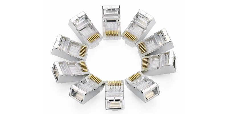 Conectores RJ 45 Ebay, Mil Anuncios, Amazon, de trinquete para CAT 6A CAT 7 conector 8P8C, crimpadora para conexiones modulares.